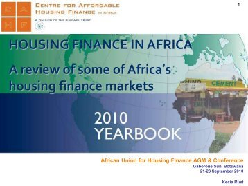A review of some of Africa's housing finance markets