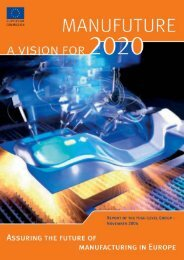 A vision for 2020 - Manufuture