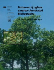 (Juglans cinerea) Annotated Bibliography - Northern Research ...
