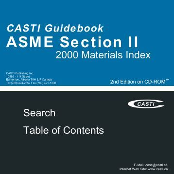 CASTI Guidebook to ASME Section IX - Welding Qualifications