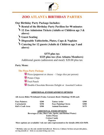 Wild Birthday Parties at Micke Grove Zoo