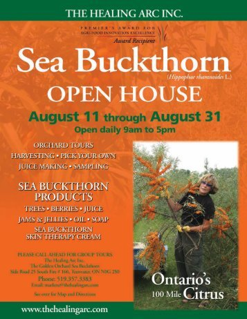 Sea Buckthorn - Erie Innovation and Commercialization