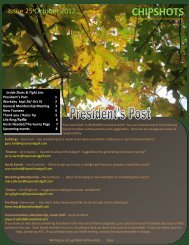 October 2012 newsletter - Lopez Island Golf Club