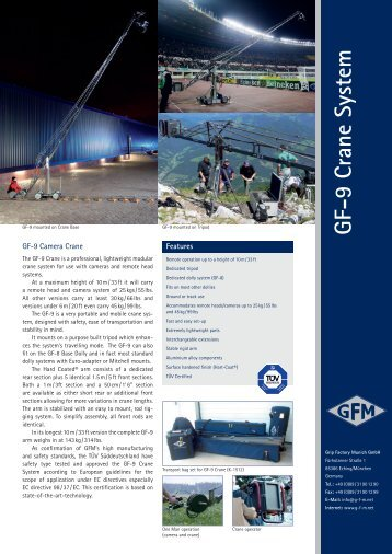 GF-9 Crane System - Grip Factory Munich GmbH