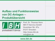 PDF [3,1 MB] - bei der IBH IT-Service GmbH