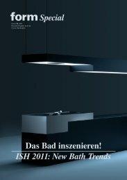 Special Das Bad inszenieren! ISH 2011: New Bath Trends - Form