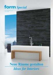 Neue Räume gestalten Ideas for Interiors Special - Form