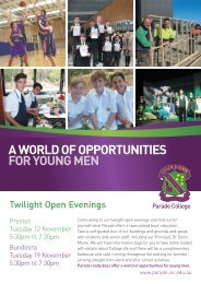 A WORLD OF OPPORTUNITIES FOR YOUNG MEN