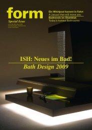 ISH: Neues im Bad! Bath Design 2009 - Form