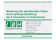PDF [2,9 MB] - bei der IBH IT-Service GmbH