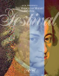The Miracle of Mozart Festival
