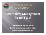 Alternative Management Years 4 & 5