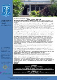 Newsletter - St Margaret Mary's College