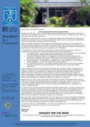1 Newsletter 29 Jan 2013 - St Margaret Mary's College