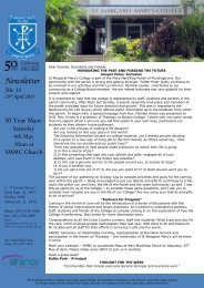 11 Newsletter 23rd April 2013 - St Margaret Mary's College