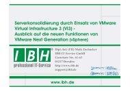 Ausblick auf VMware vSphere 4 - bei der IBH IT-Service GmbH