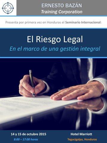El Riesgo Legal