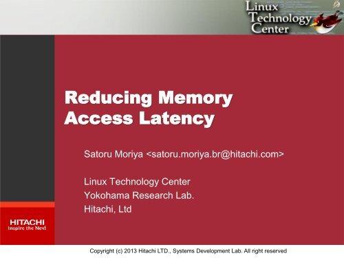 Reducing Memory Access Latency