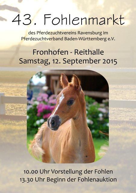 43. Fohlenauktion in Fronhofen