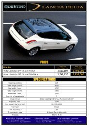 SPECIFICATIONS PRICE