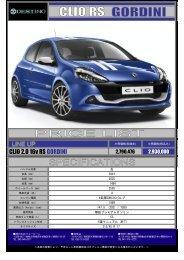 CLIO 2.0 16v RS GORDINI