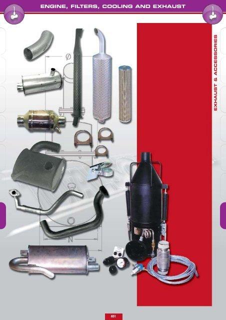 engine, filters, cooling and exhaust - Lehner Industriemaschinen