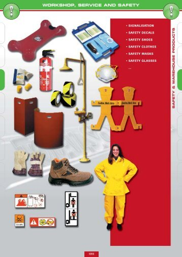 WORKSHOP, SERVICE AND SAFETY - Lehner Industriemaschinen
