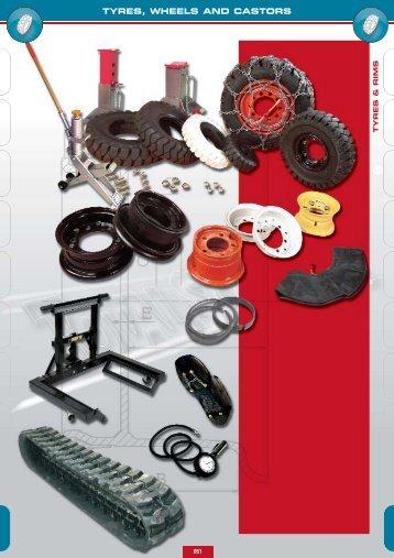 TYRES, WHEELS AND CASTORS - Lehner Industriemaschinen