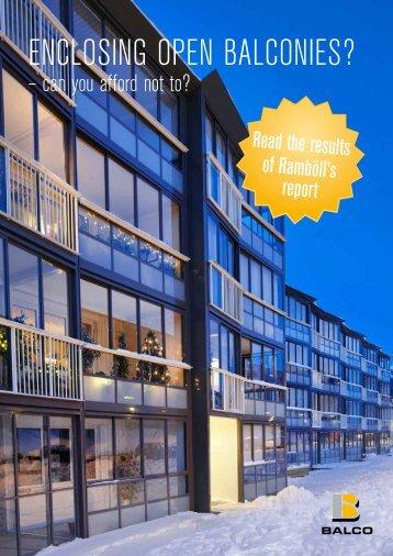 Enclosing open balconies?