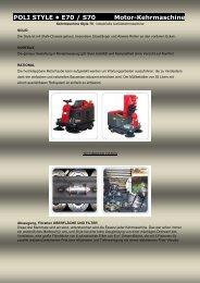 POLI STYLE • E70 / S70 Motor-Kehrmaschine