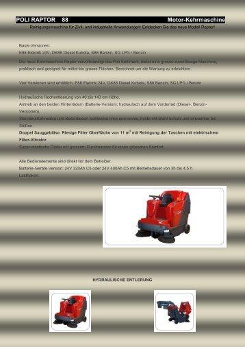 POLI RAPTOR 88 Motor-Kehrmaschine
