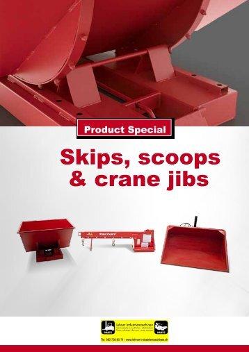 Skips scoops & crane jibs
