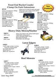 Heavy Duty Mower/Slasher Lawn Edgers Reel Mowers - Catford ...