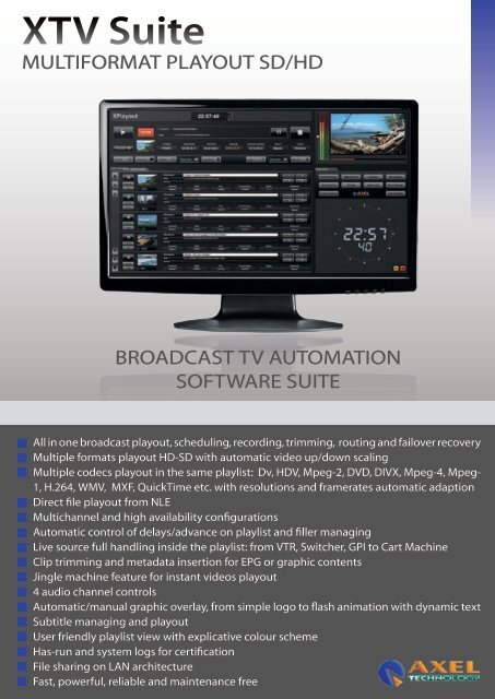 XTV Suite - Axel Technology