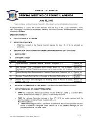 SPECIAL MEETING OF COUNCIL AGENDA