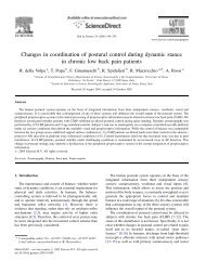 Changes in coordination of postural control during - North Wales ...