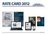 RATE CARD 2012 - Finanz Und Wirtschaft