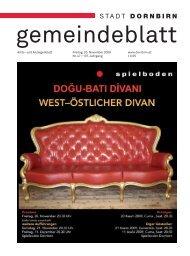Dornbirner Gemeindeblatt KW 47 vom 20.11.2009