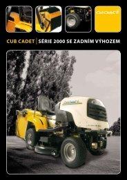 cub cadet sÉRIE 2000 SE ZADNÍM VÝHOZEM