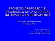 PROYECTO CRIPTORED Y EL DESARROLLO DE LA SEGURIDAD INFORMÁTICA EN IBEROAMÉRICA