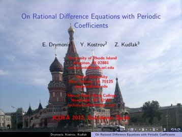 On Rational Difference Equations with Periodic Coefficients