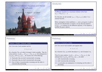Introduction Preliminary Preliminary