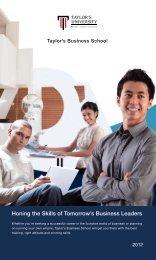 Taylor's Business School - Fattah Education