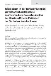 Telemedizin in der Tertiärprävention - Deutsche Stiftung für ...
