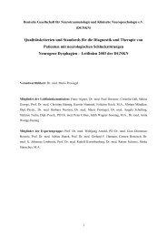 Qualitätskriterien und Standards für die Diagnostik und ... - DGNKN