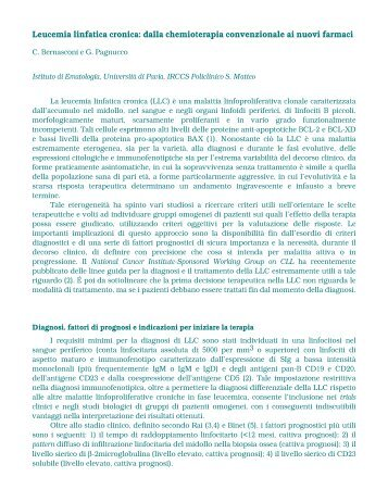 LEUCEMIA LINFATICA CRONICA PDF DOWNLOAD