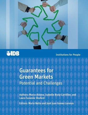 Guarantees for Green Markets