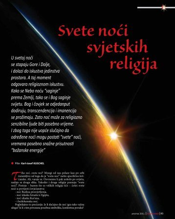 Svete noći svjetskih religija
