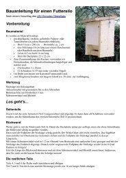 Bauanleitung für einen Futtersilo - FKL Heiligkreuzsteinach