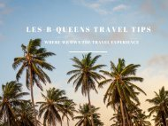 Les-B-Queens Travel Tips Guide